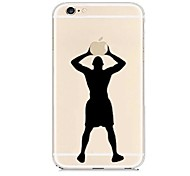 Basketball Player Pattern Transparent Back Case for iPhone 6