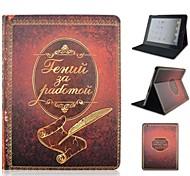 Cas Folio ( Cuir PU , Couleurs assorties ) - Design spécial pour Pomme iPad 2/iPad 4/iPad 3