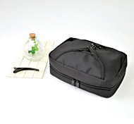 Nylon Large Toiletry Bag with Mirror & Zipper Pouch