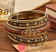 Eruner® Retro Carve Patterns or Designs on Woodwork Multilayer Bracelets