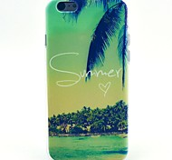 Palm Resort Pattern TPU Soft Cover for iPhone 6