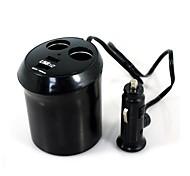 adaptador del cigarrillo del coche usb cargador de encendedor universales de doble (12 ~ 24v)