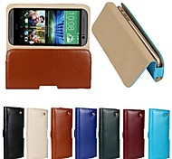 New Genuine Belt Clip Pouch Crazy Horse Leather Phone Case Cover for HTC M8 (Assorted Colors)