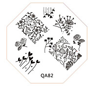 Nail Art Stamp Stamping Image Template Plate QA Series NO.82