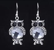Elgant Owl Silver Dangle Earring (1 Pair)