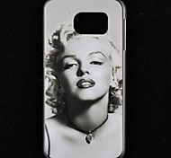 Embossment Sexy Girl Pattern Plastic Hard Case for Samsung Galaxy S6