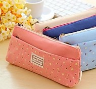 Cute Multifunctional Shivering Double Zipper Pencil Bag Random Color