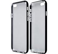 iPhone 6 - Dämpfer Rahmen/Rückseiten Cover - metallisch/Transparent ( Schwarz/Blau/Golden/Silber , TPU/Aluminium )