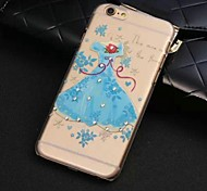 Design Especial/Diamond / Rhinestone Decorado Caixa - iPhone 6 Plus - Cases Cobertas com Joias/Cobertura de Trás (Azul , Policabornato)