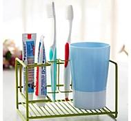 rack de metal escova de dentes (cor aleatória)