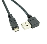 USB 2.0 A Male Right Angled 90 Degree to USB Micro B 5Pin Male Phone Cable 0.5m