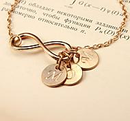 Fashion Simple Eight MOM Golden Alloy Bracelet(1 Pc)