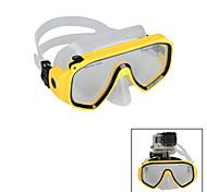 KINGMA Diving Glasses for Sports Camera GoPro Hero 4 / 3 / 3+ / 2 / 1 / SJ4000 / SJ5000 /SJ6000- Yellow/Blue
