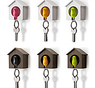 Bird Nest Sparrow House Key Chain Ring Chain Plastic Whistle Wall Hook Holders(Random Color)