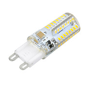 Marsing®  G9 Cross Silicone Seal 8W 800lm 3500K/6500k 64x SMD 3014 LED Warm/Cool White Light Bulb Lamp (AC 220V)