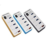 4Port USB+1 Charger 5Gbps USB3.0 Speed HUB with LED Indicator and Switch/USB2.0/1.1 is Universal(Assorted Colors)