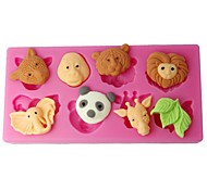 FOUR-C Cupcake Molds Forest Animals Sugarpaste Moulds Color Pink