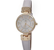 Women's Stylish Retro  Leather Watch Circular High Quality Japanese Watch Movement(Assorted Colors)