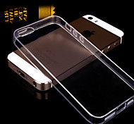 iPhone 5/5S iPhone - Per retro - per Tinta unita/Design/Transparente/Ultra sottile ( Nero/Bianco/Rosa/Dorato , TPU )
