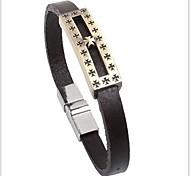 tina - accessorio di moda della lega dell'annata braccialetto in pelle in tutti i giorni