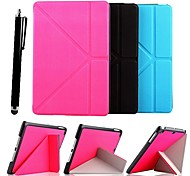 KARZEA® Grass Pattern Removable Multi-fold PU Leather Case with Stand and Stylus for iPad mini 1/2/3 (Assorted Colors)