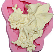 Angel Flower silicone Soap Mold Cake Decorating Tools Fondant Fimo Gum Paste & Chocolate