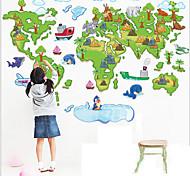 Umwelt abnehmbaren die Karte der Welt-PVC-Wandaufkleber