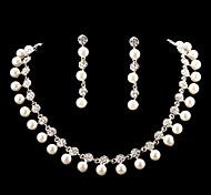 Women's Cubic Zirconia/Alloy/Imitation Pearl Jewelry Set