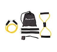 niños 6pc conjunto de la aptitud de la cuerda elástica para el entrenamiento de fuerza