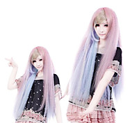 Fantacy Melody Pink And Blue Mixed Straight Long Punk Lolita Wig