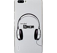 Fashion Painted Headphone PC Back Cover for Huawei Honor 6 Plus