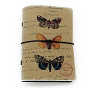 Canvas Cover Credit ID Card Bag 20 Card Slots- Butterflies