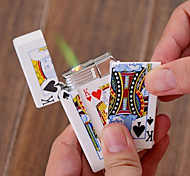 Electric Shock Windproof Butane Lighter Poker Spoof Tricky (Random Color Patterns)