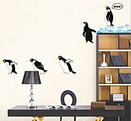 Environmental Removable Penguin PVC Wall Sticker