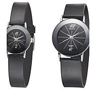 Couple's Bracelet Watch Quartz Analog Vintage Silicone Rubber Strap Women Men Sports Watches 2pcs