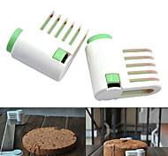 5 слоев торт хлеб резак Нивелир резки резки Фиксатор инструменты (случайный цвет, 2 шт) 6x6x3cm