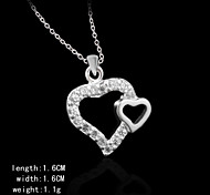 Charming Silver Heart Shape Pendents