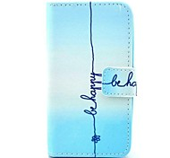 Be Happy Pattern PU Leather Full Body Case  for HUAWEI Y330