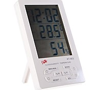 "4.3"" Digital LCD Humidity/Hygrometer and Thermometer with Alarm Clock (1*AAA included)"