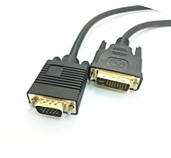 1.5m DVI de alta calidad al cable del vga 24 + 5 pin DVI-I a VGA cable para pc tv