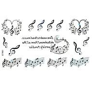 5Pcs  Waterproof  The Symbol Of Music Pattern Tattoo Stickers