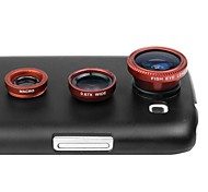 3 in 1 Lens Kit 180 Fisheye Lens + Wide Angle + Macro Lens + Case Cover for Samsung Galaxy S3 I9300(Assorted Color)