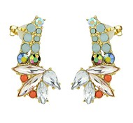 Fashion Colorful Gemstone Wholesale  Earrings