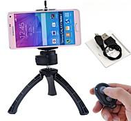 selfie recarregável remoto do obturador Bluetooth + suporte + mini-tripé para iOS telefones Android e iPhone (cores sortidas)