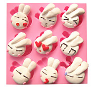 Cartoon Cute Lovely Rabbit Fondant Cake Molds Chocolate Mould For The Kitchen Baking For Sugar Candy