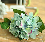 Two Large Green Blue Hyfrangeas Artifical Flowers