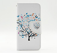The Beauty of The Tree Pattern Full Body Full Body PU Leather Case for iPhone 5/5S