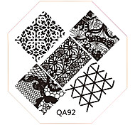 Nail Art Stamp Stamping Image Template Plate QA Series NO.92