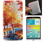 Oil Painting Pattern TPU Ultra Soft Case for LG G3
