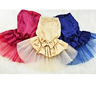 Red/Blue/Yellow Cotton Wedding Dresses For Dogs/Pets